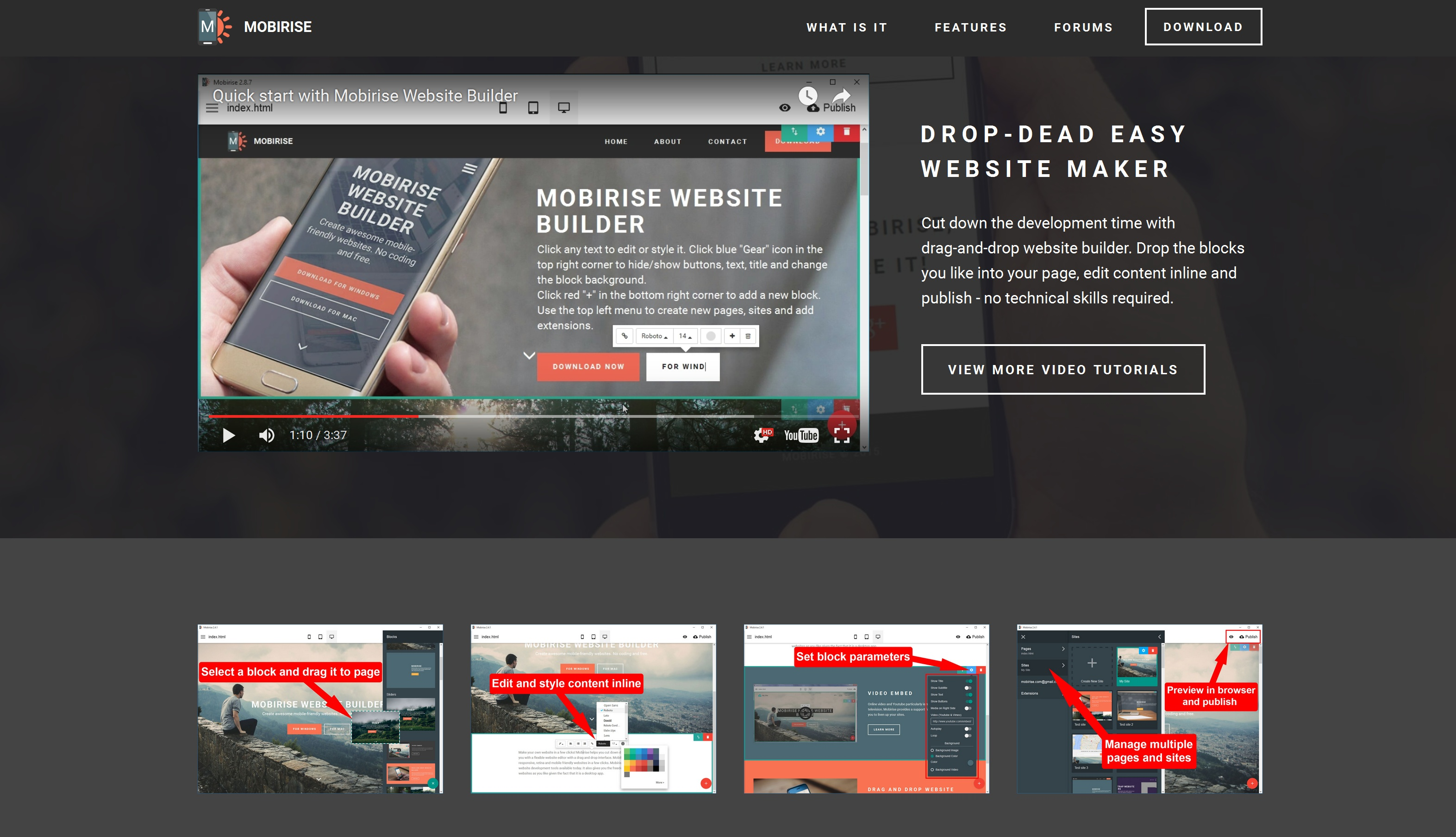 Responsive Mobile Website Maker