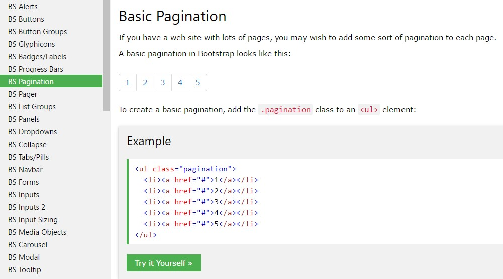Bootstrap Pagination jQuery