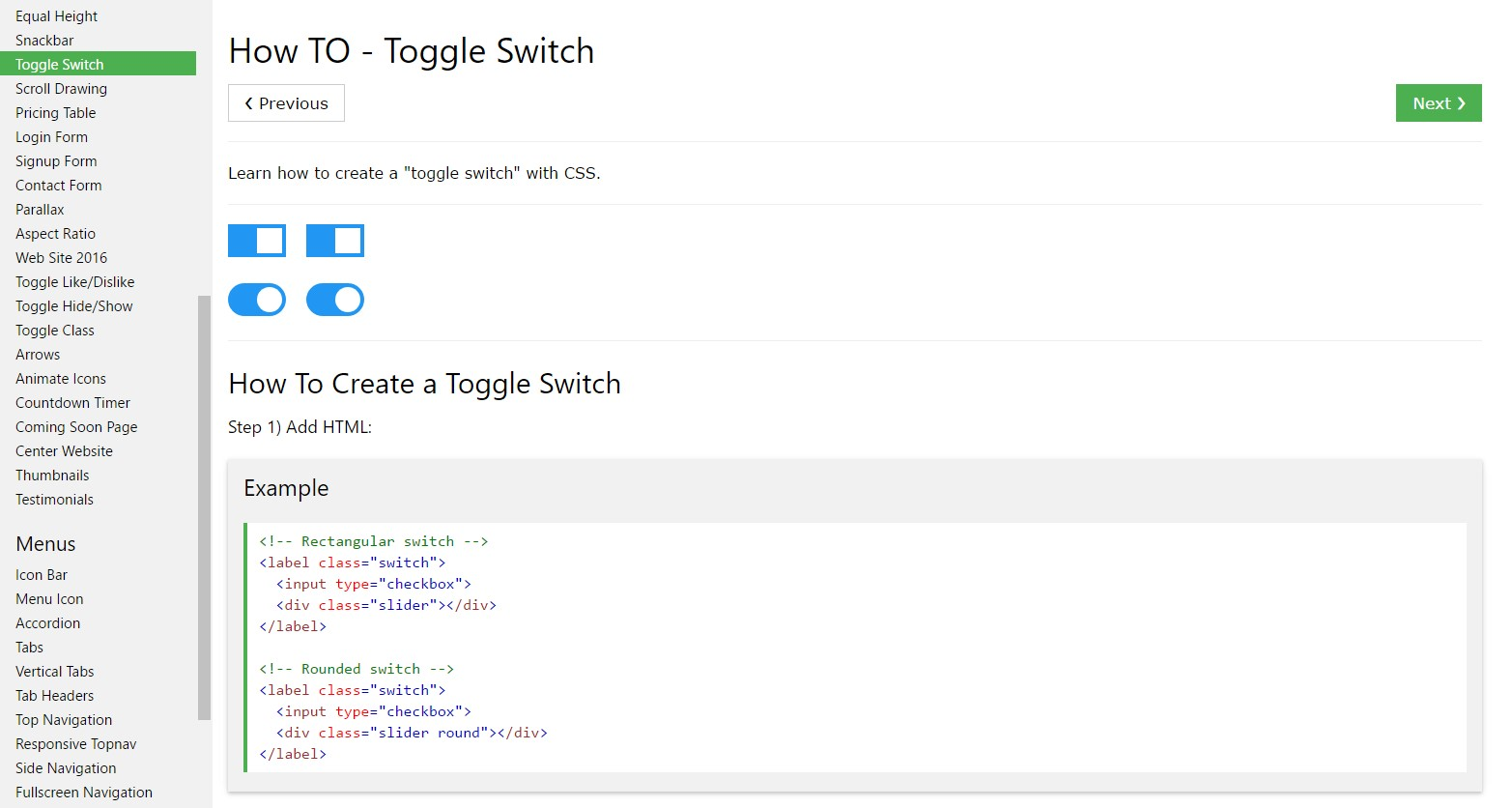 Exactly how to  produce Toggle Switch