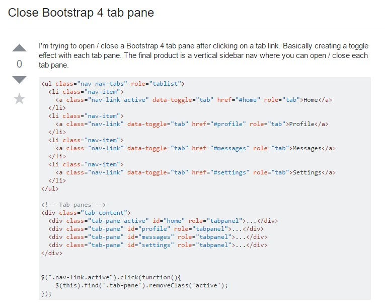 Exactly how to  turn off Bootstrap 4 tab pane