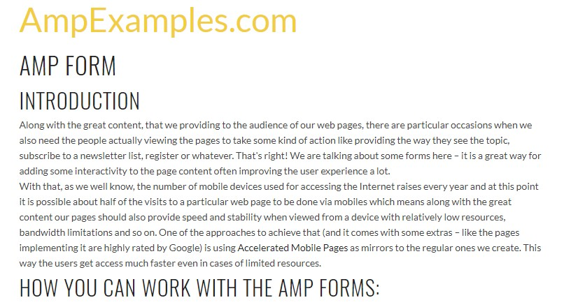 Why  do not we  look over AMP project and AMP-form  component?