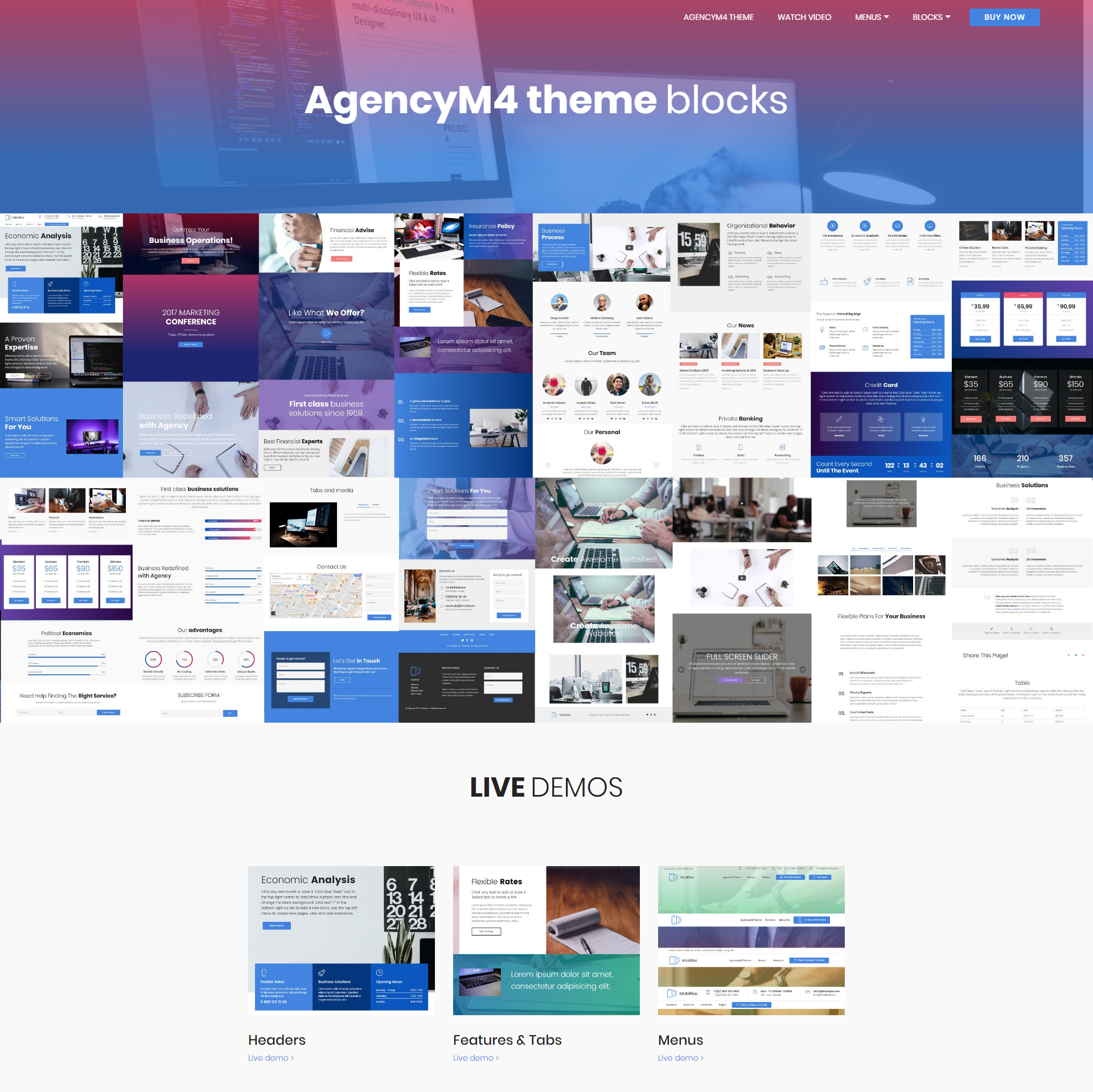 HTML5 Bootstrap AgencyM4 Themes