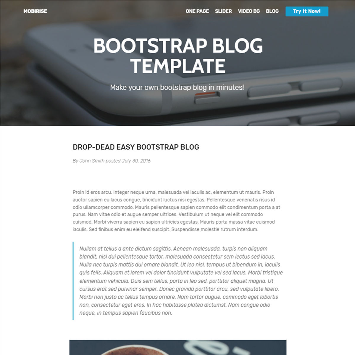35+ Fantastic Free Bootstrap Templates 2019