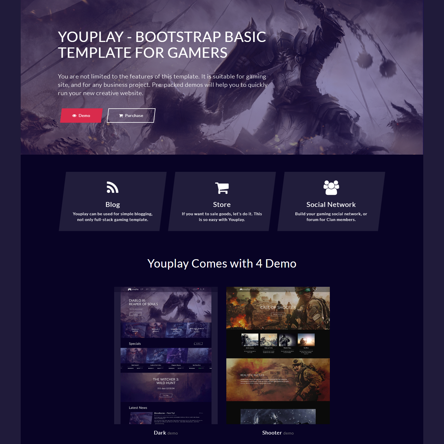 Free Download Bootstrap YouPlay Themes