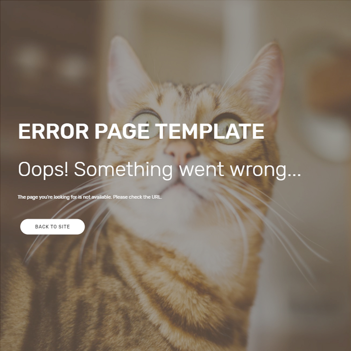 HTML Bootstrap Error Page Templates