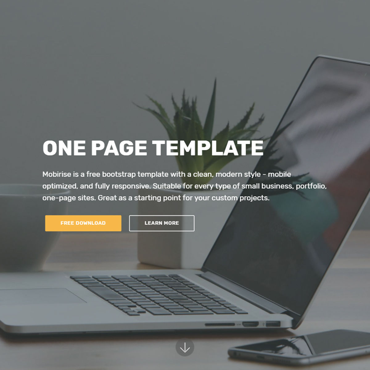 Free Download Bootstrap One Page Templates