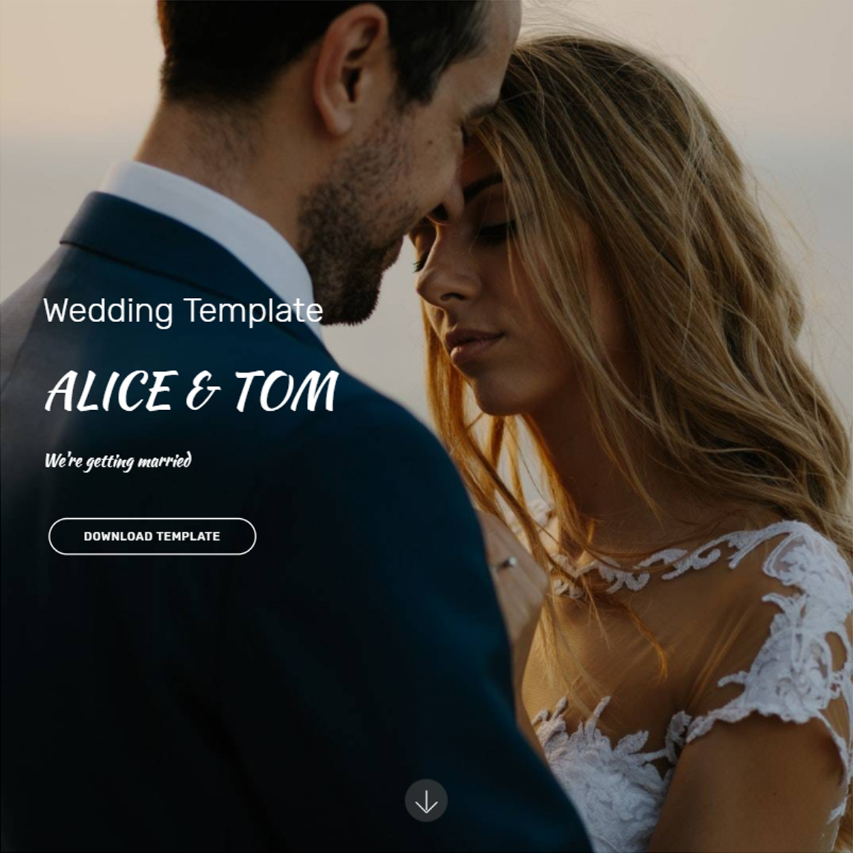 Free Download Bootstrap Wedding Templates