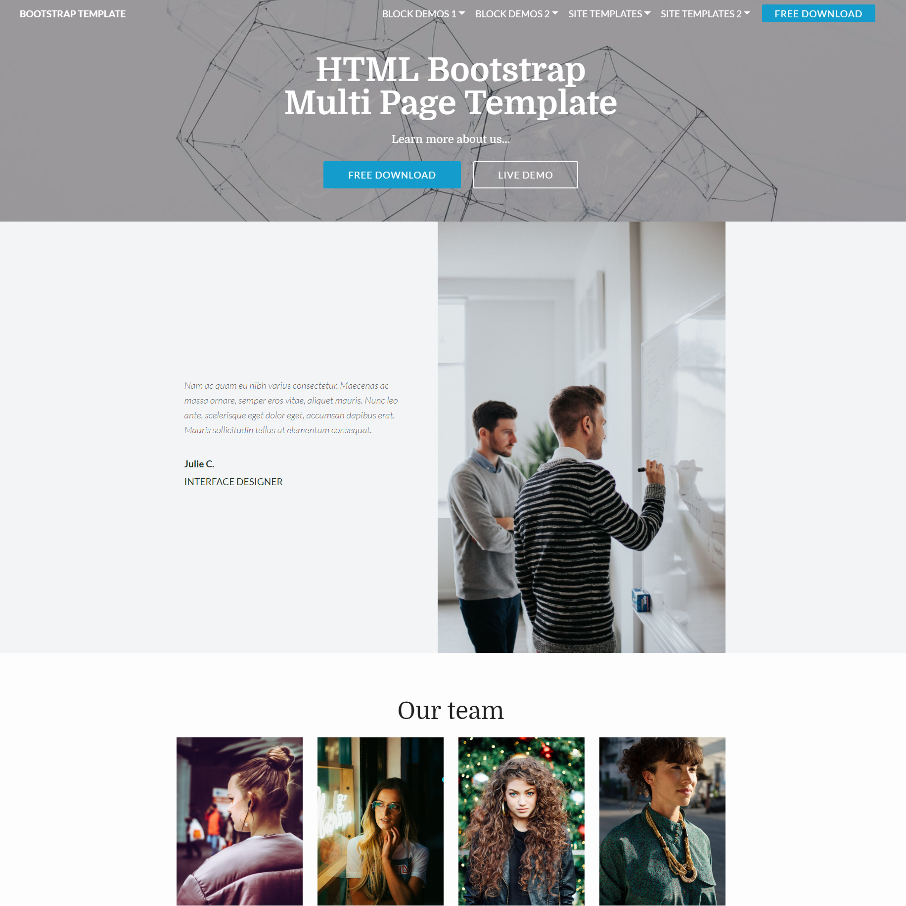 Responsive Bootstrap Multi page Templates
